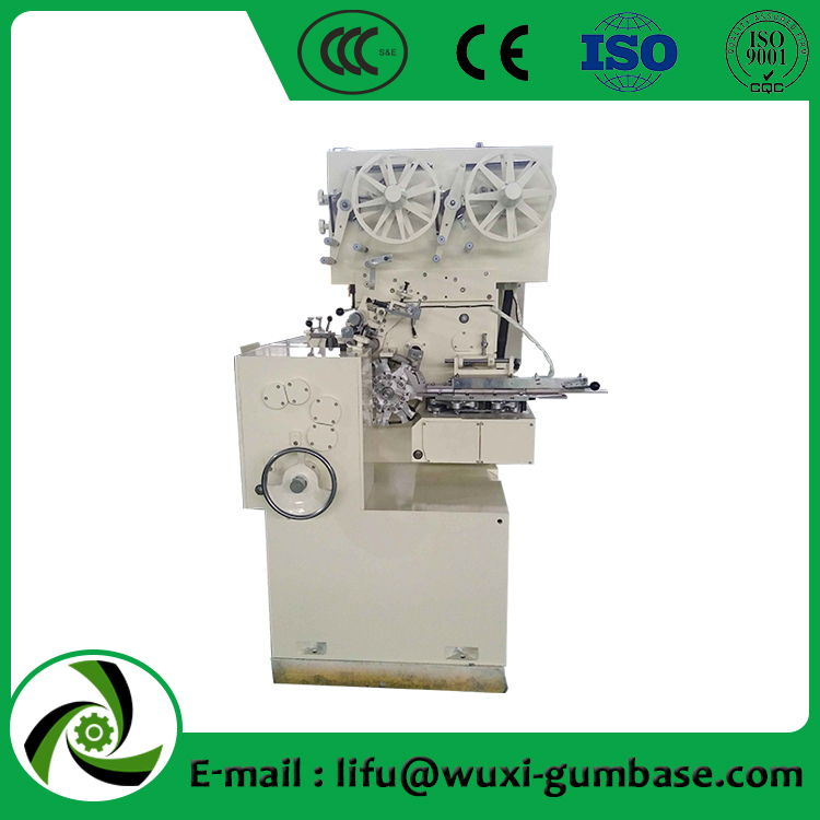 cutting and folding or twisting packing machine